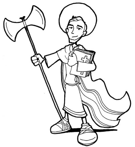 saint jude coloring coloring pages