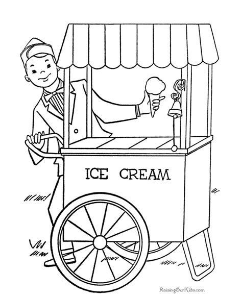 summer ice cream coloring pages ice cream summer coloring page