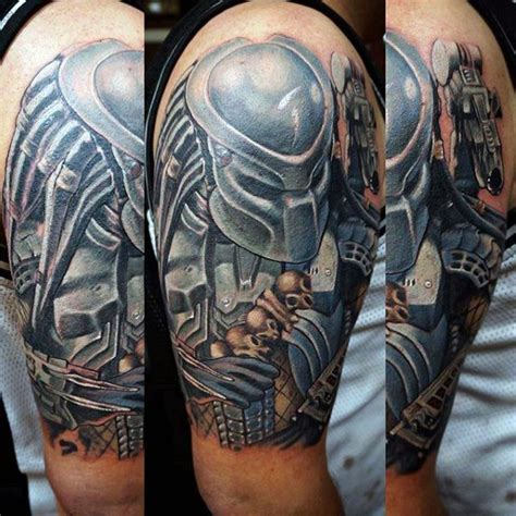 predator tattoos 50 predator designs for sci fi ink ideas