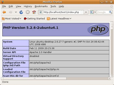 test php configuring the php development environment in linux ubuntu