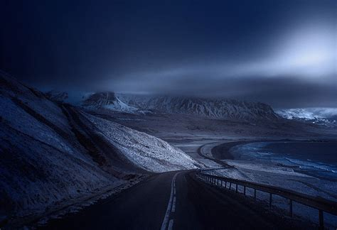 photographer captures roads  desolate landscapes
