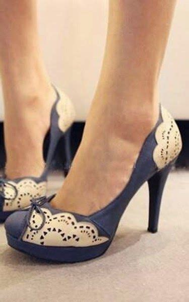 Higheels Details details about high heels with lace decoration around and bowknot in vintage style