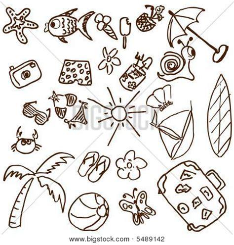 doodle summer summer theme doodles stock vector stock photos bigstock