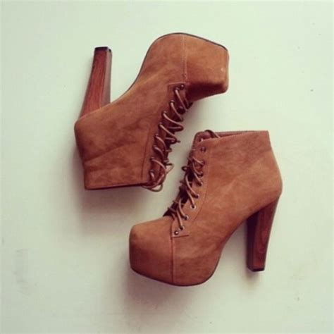 shoes boots fall brown high heels wood brown