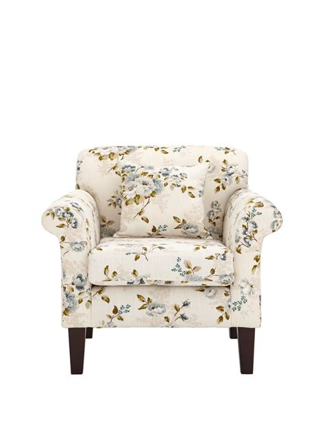Pink Floral Armchair Chatsworth Accent Chair Teal Floral Grey Floral Pink