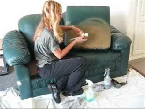 how to remove paint from leather sofa color change dye leather or vinyl youtube