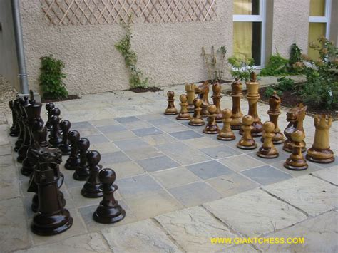 giant chess sets are great outdoor chess sets for garden