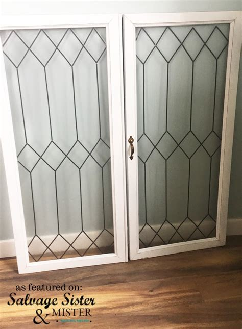 how to create faux leaded glass windows salvage