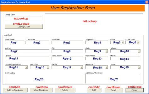staff job allocator database excel userform database
