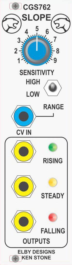 slope detector elby designs cgs762 slope detector eurorack module on