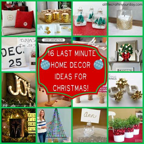 16 last minute christmas decor ideas a little craft in