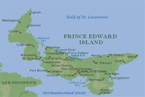 map of prince edward island canada prince edward island