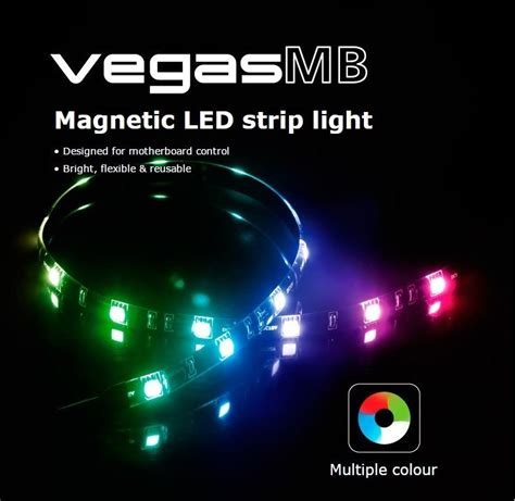 Magnetic Led Light Strips Akasa Vegas Mb Rgb Magnetic Led Light Designed For Motherboard Ebay