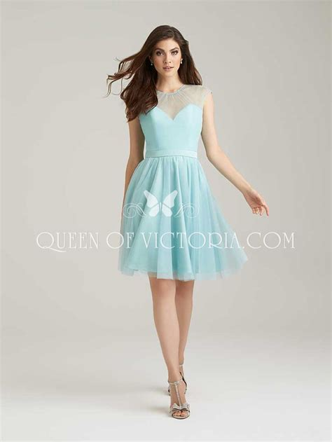 Dress Se 16 K Gd2704 Light Blue Chiffon Illusion Cap Sleeve Ethereal