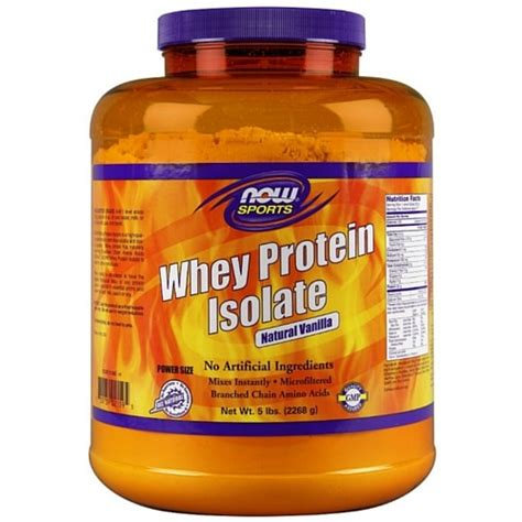 Now Whey Protein Isolate whey protein isolate vanilla 5 lb