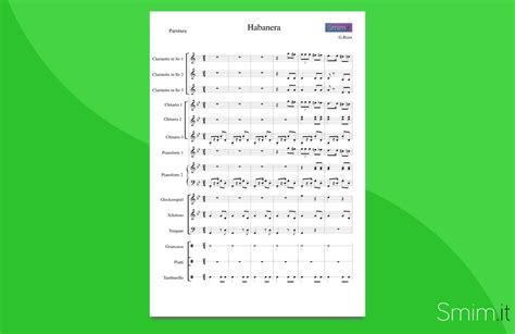 bizet testo habanera dalla di bizet partitura per orchestra