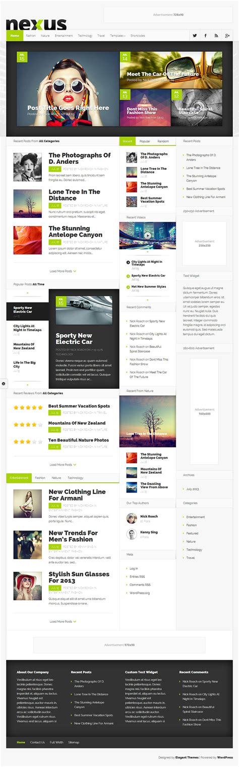 theme wordpress nexus 80 premium wordpress themes for premium bloggers 2015 a