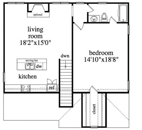 Fireplace Floor Plan by Garage Apartment With Fireplace 29820rl Architectural