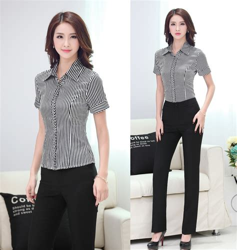 Stripy Set By Alila Cloth formal pantsuits suits with pant and shirt sets