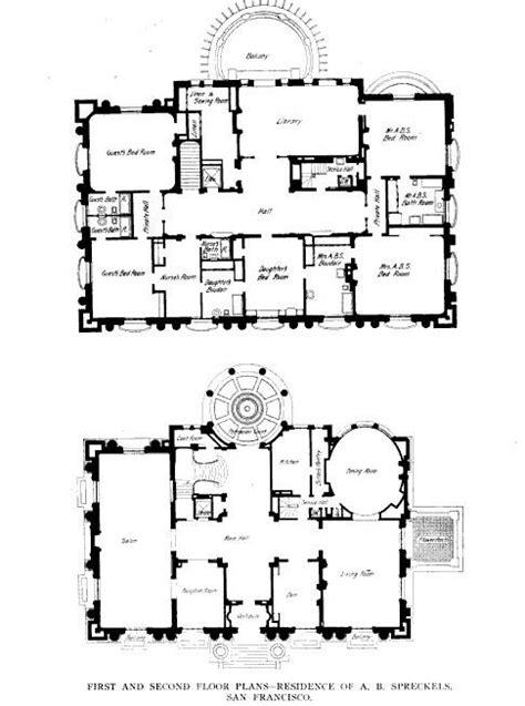 pittock mansion floor plan spreckels mansion house plans mansions floors and mansion floor plans