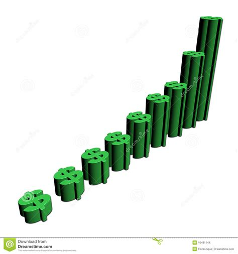symbol of growth growth dollar symbols graph stock images image 10481144