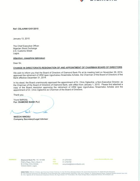 appointment letter as managing director gaffe this recent bank s letter still has
