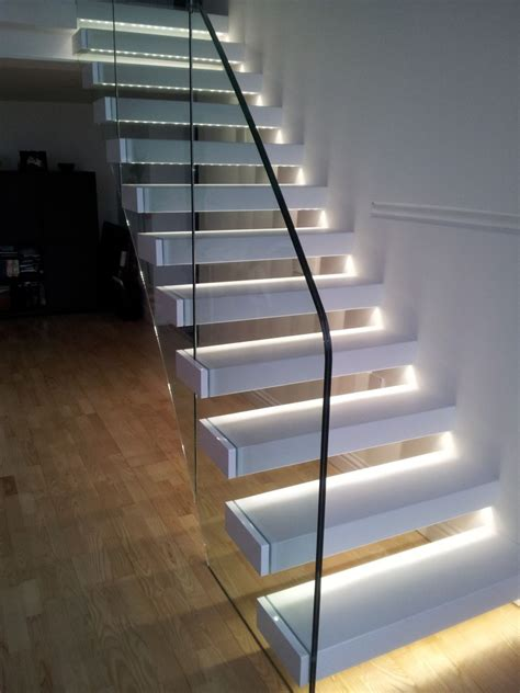 Staircase Lighting Fixtures Staircase With Led Lights Sparkle Words Social