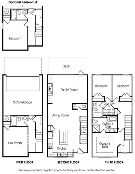 best townhouse floor plans best 2 story townhouse floor plans contemporary flooring