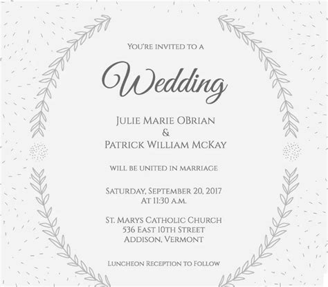 pattern undangan nikah contoh invitation undangan pernikahan bahasa inggris
