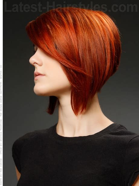 dramatic short back long front bob short a line haircuts