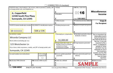general instructions for certain information returns 2016 irs form 1099 misc internal revenue service download pdf