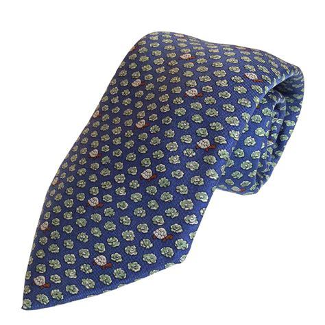 hermes turtle blue silk tie
