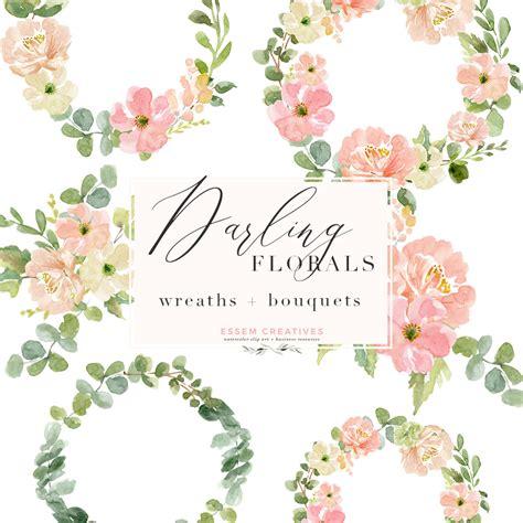 watercolor wreath png clipart watercolor flowers bouquet