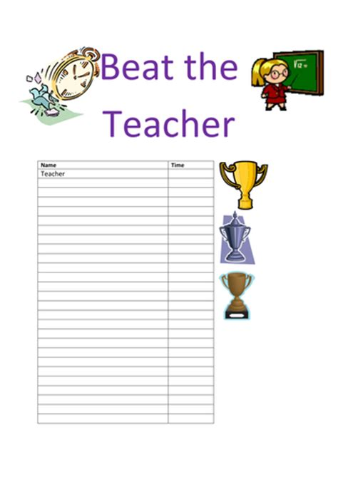 beat template beat the by smiler1985 teaching resources tes