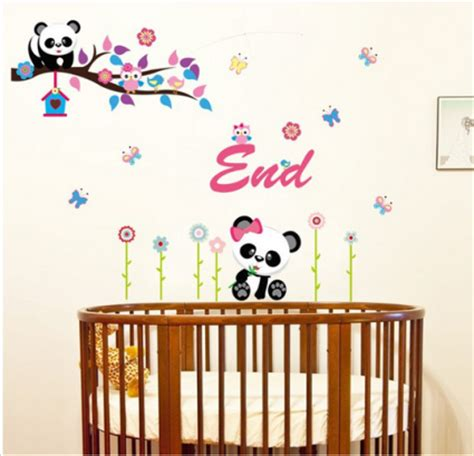 Wall Sticker Wall Stiker Wallsticker Dinding 381 Panda Jerapah ay9220 jumbo panda with home raja dinding