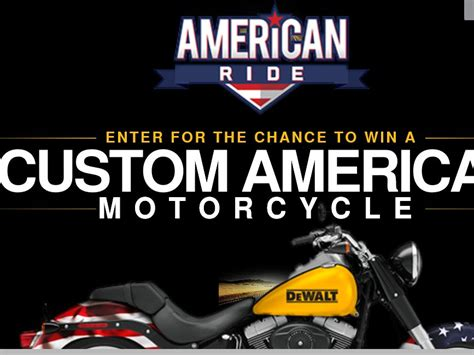 American Cash Awards Sweepstakes - dewalt american ride sweepstakes sweepstakes fanatics