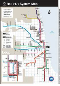 Chicago El Map Blue Line by Cta Maps Bus And L System Maps