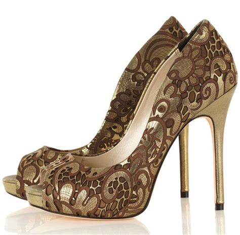 bronze high heels millen bronze lazer cut peep toe shoes beautiful