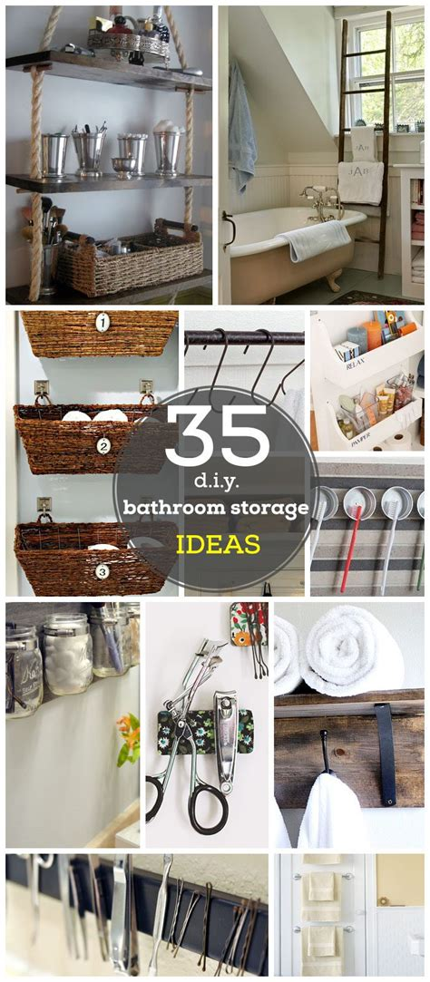 diy bathroom ideas for small spaces 18 diy bathroom storage ideas hacks