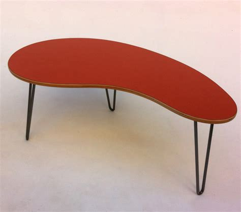 Kidney Bean Shaped Coffee Table Orange Kidney Bean Shaped Mid Century Modern Coffee Or Cocktail Table Atomic Age