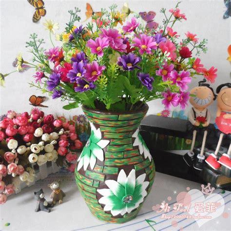 butik dekorasi rumah buatan bunga pot tanah liat tembikar