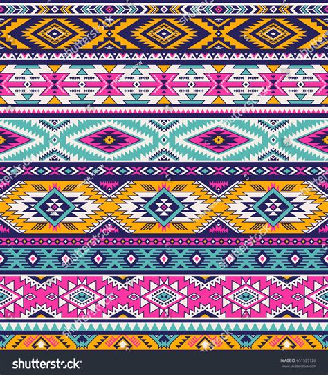 retro colors tribal vector seamless ndebele stock vector retro colors tribal vector seamless navajo stock vector