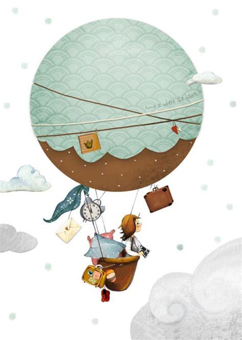 bild kinderzimmer dawanda bilder kinderbild quot hei 223 luftballon quot kinderzimmer ein