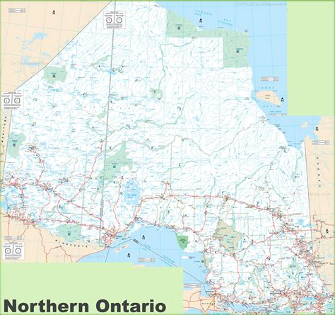 northern ontario map large detailed map of northern ontario