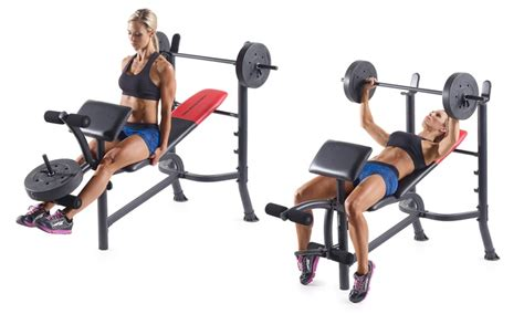 professional weight bench set weider pro 265 adjustable weight bench with 80 lb weight