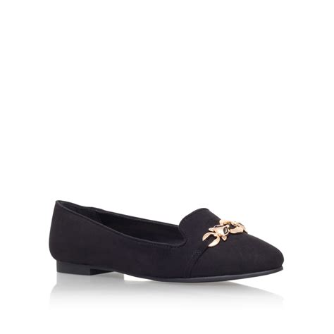 carvela flat shoes carvela kurt geiger milo flat slip on shoes in black lyst