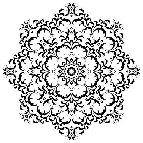 circular floral ornament mehndi henna tattoo mandala stock