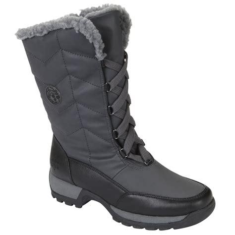 totes womens boots totes s winter boot rhonda silver