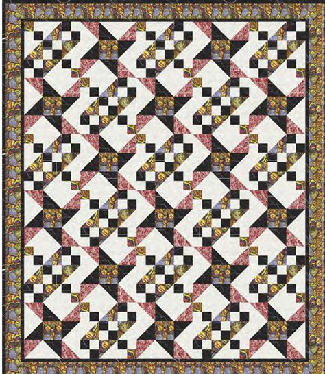 Patchwork Patterns Australia - 06 two block quilt by a henry m s textiles