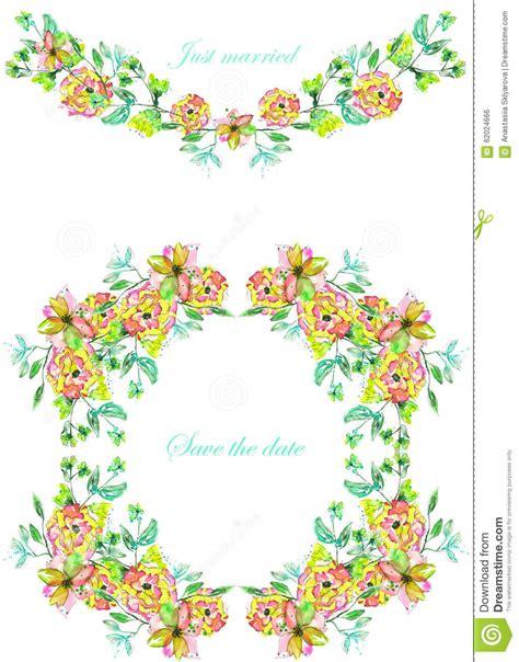 co dei fiore pagina il confine ghirlanda e corona dei fiori e dei rami
